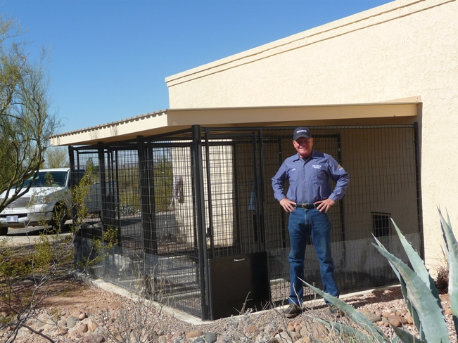 Custom Built Dog Kennels Installed In Arizona
