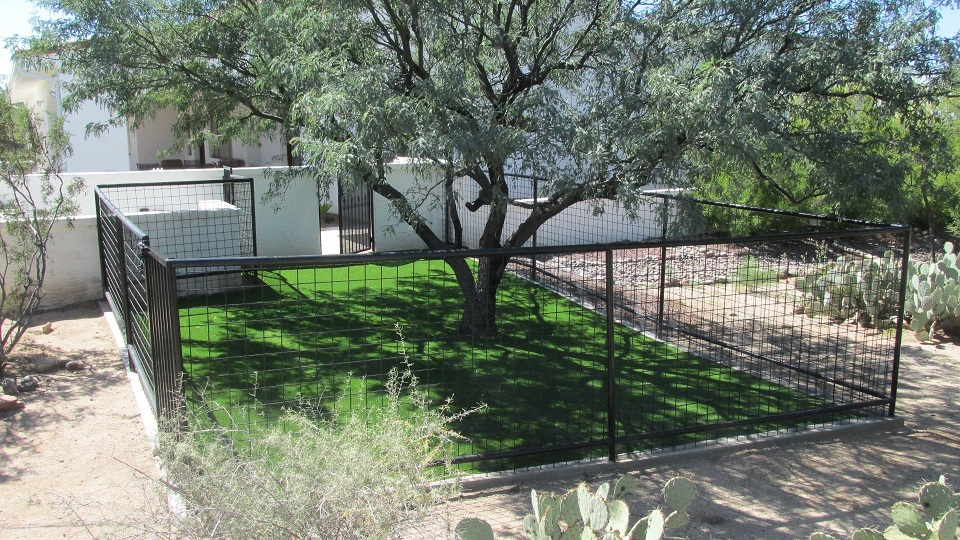 AZ Dog Run Companies Phoenix Arizona Custom Built Dog Runs