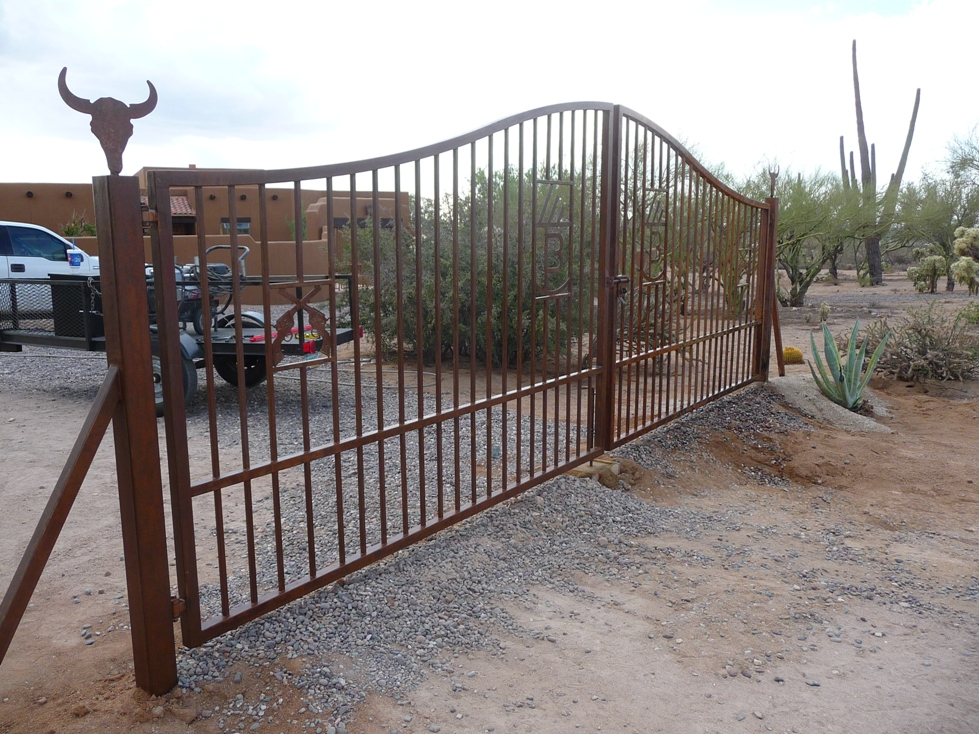 Az custom gates installed arizona wrought iron for sale