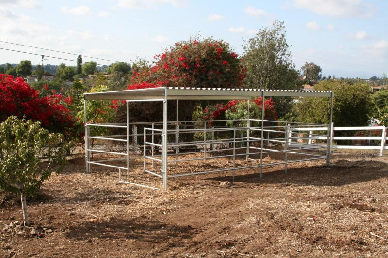 Covered Horse Stalls Installed In Arizona