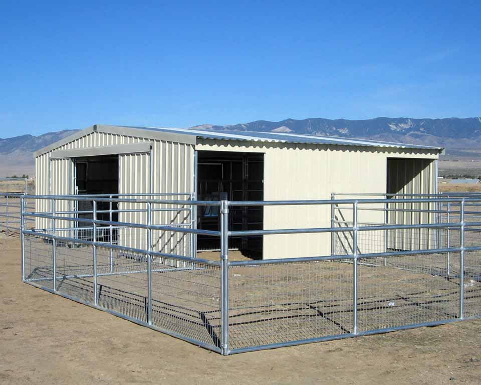 Charming horse barn plans and prices 2 horse corrals for for Barn plans for sale